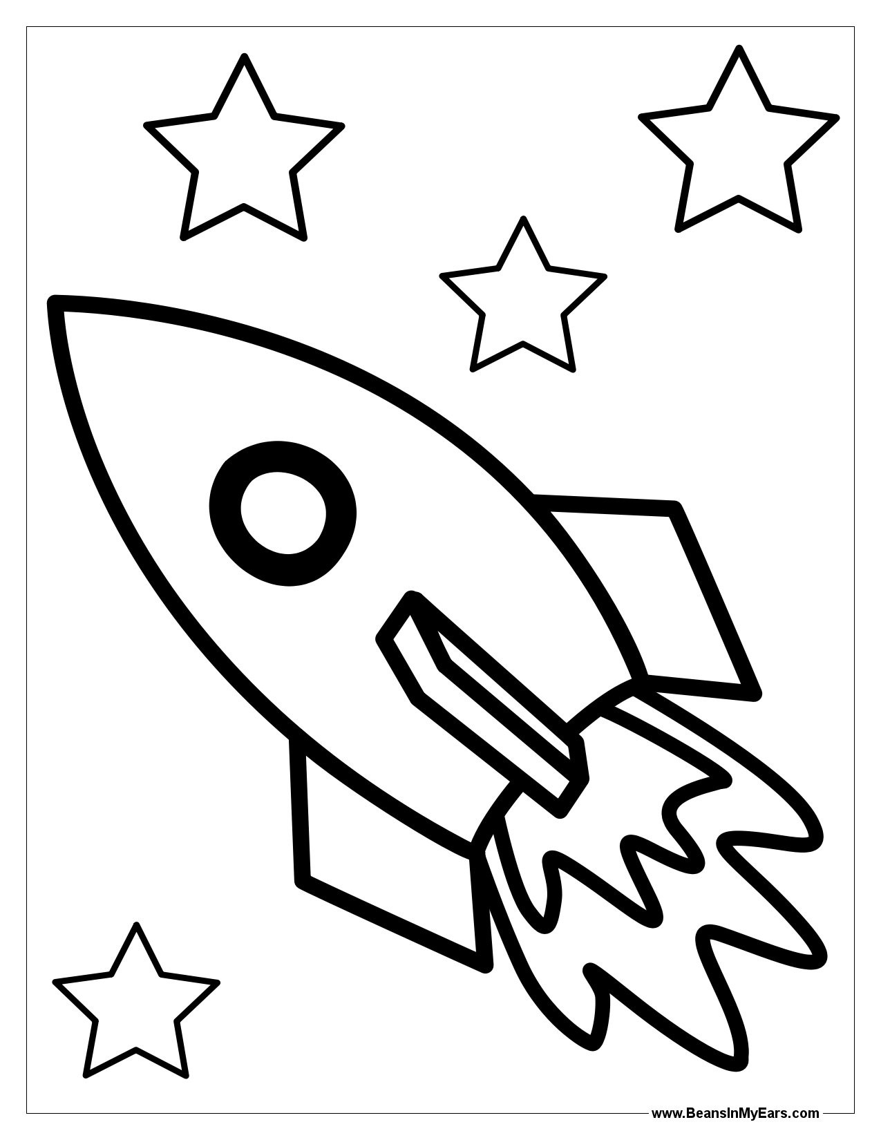 Space Rocket Coloring Page At Getcolorings
