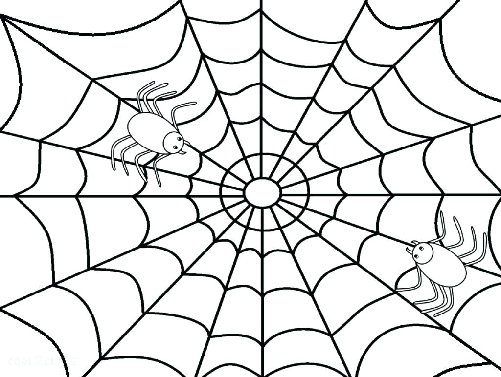 Spider Web Coloring Page At Getcolorings
