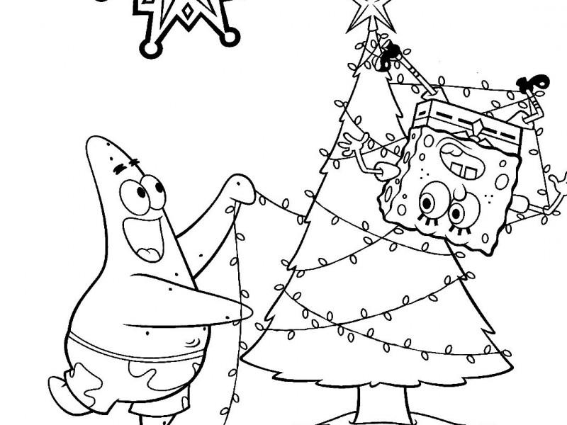 spongebob and patrick christmas coloring pages at
