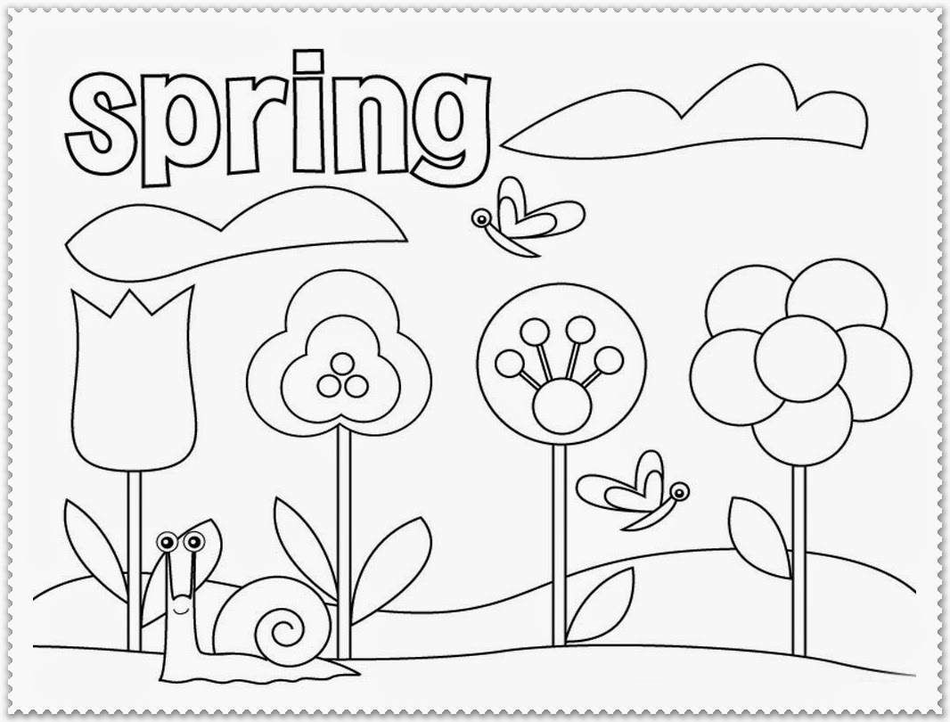 Spring Coloring Pages For First Grade At Getcolorings
