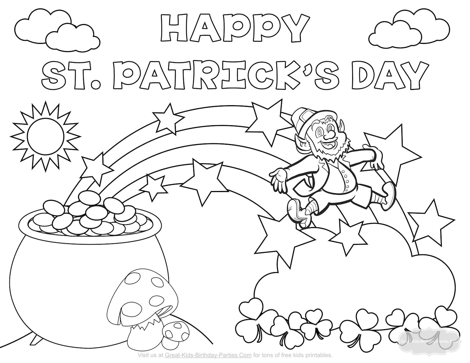 St Patricks Coloring Pages At Getcolorings