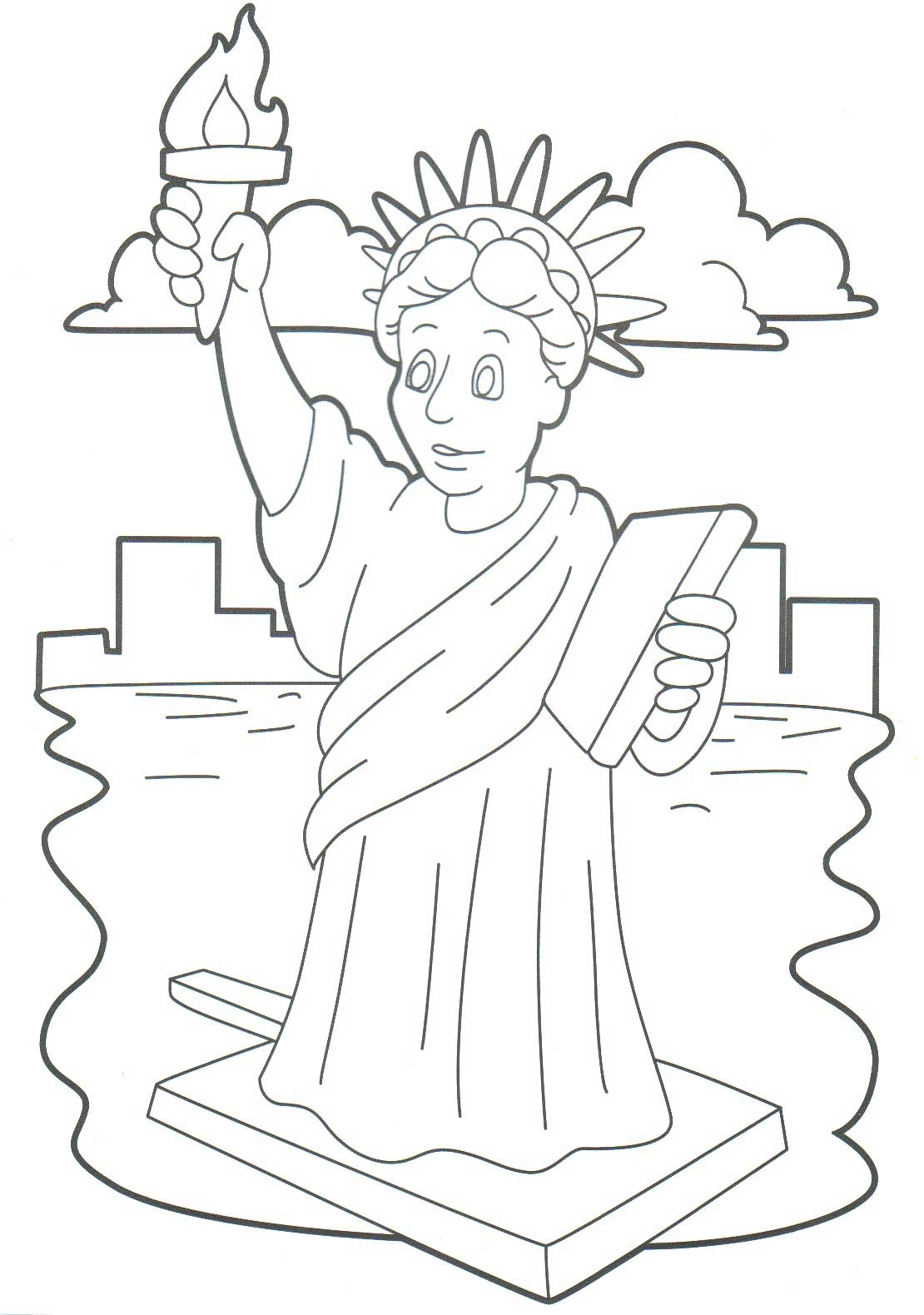 Statue Of Liberty Coloring Page At Getcolorings
