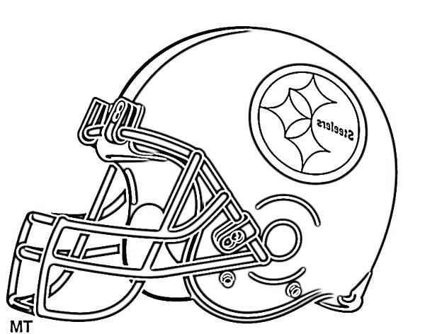 steelers helmet coloring page at getcolorings  free