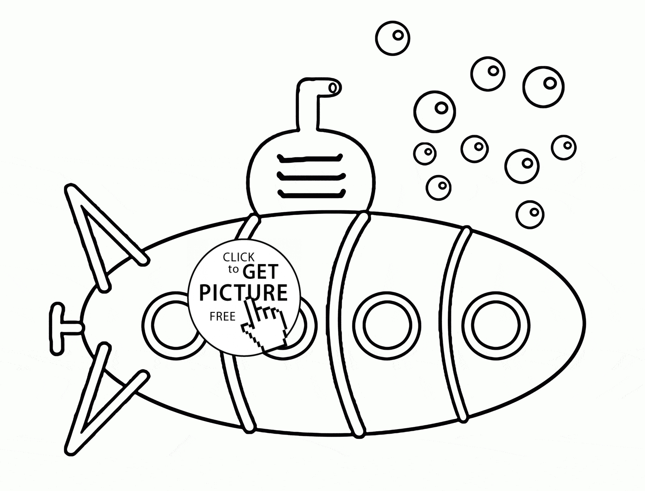 Submarine Coloring Pages At Getcolorings