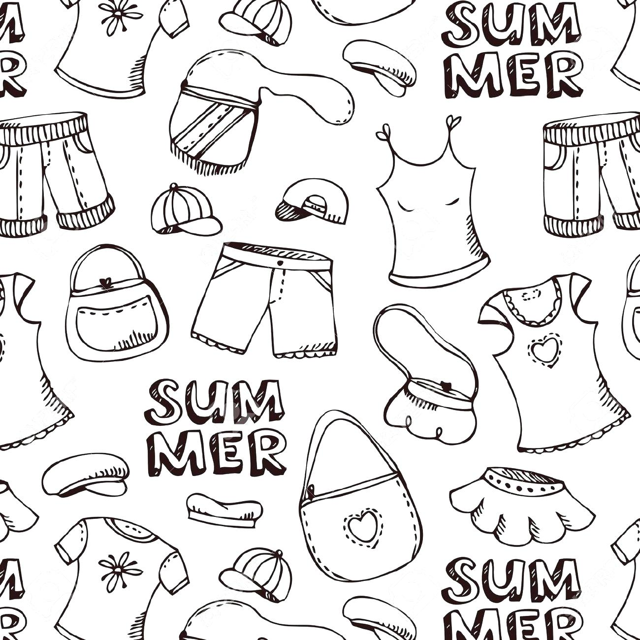 Summer Clothes Coloring Pages At Getcolorings