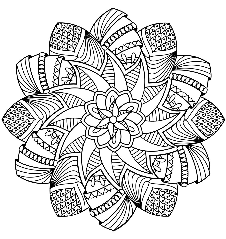Sun Mandala Coloring Pages At Getcolorings