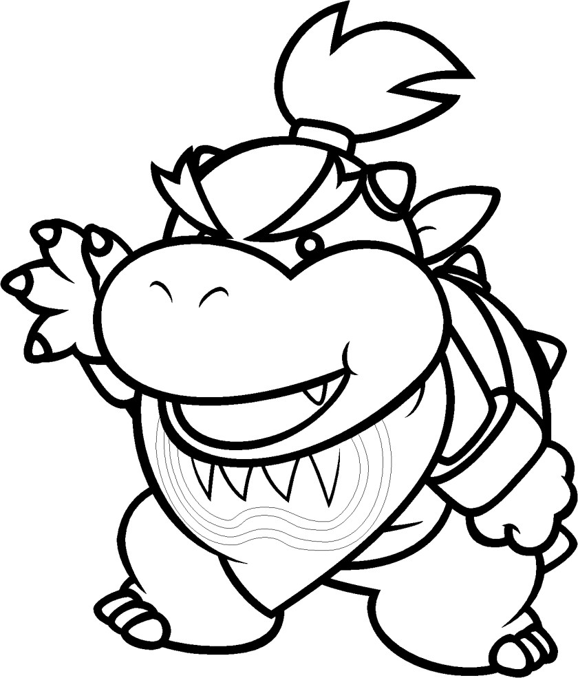 super paper mario coloring pages at getcolorings