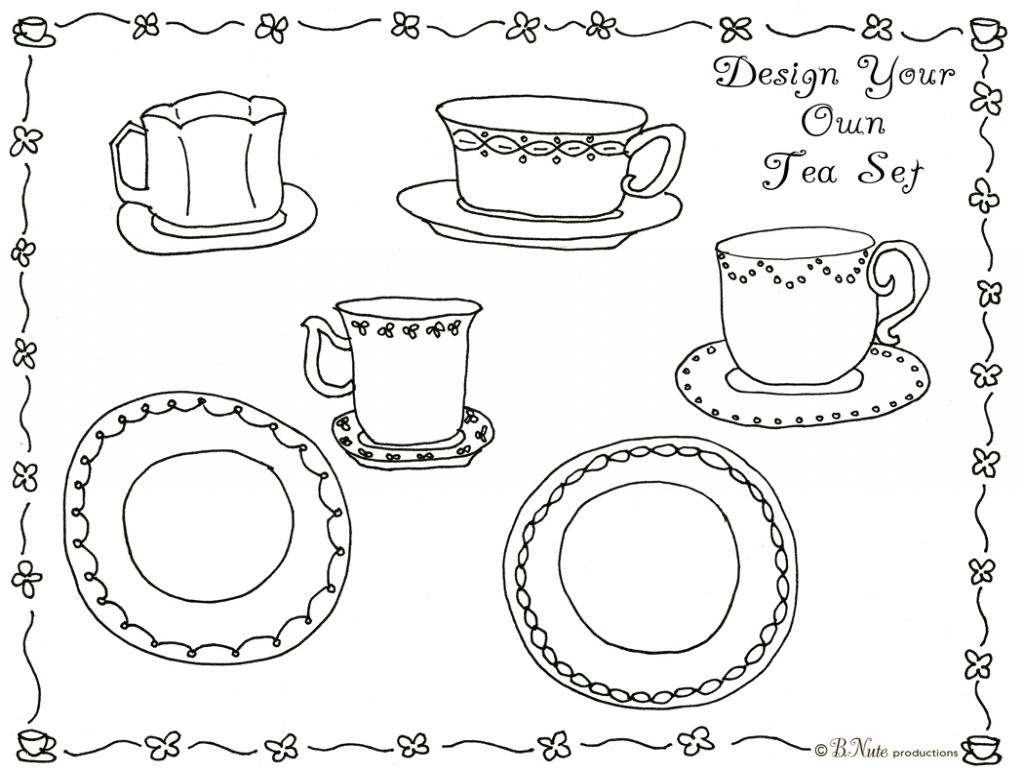 Tea Set Coloring Pages At Getcolorings