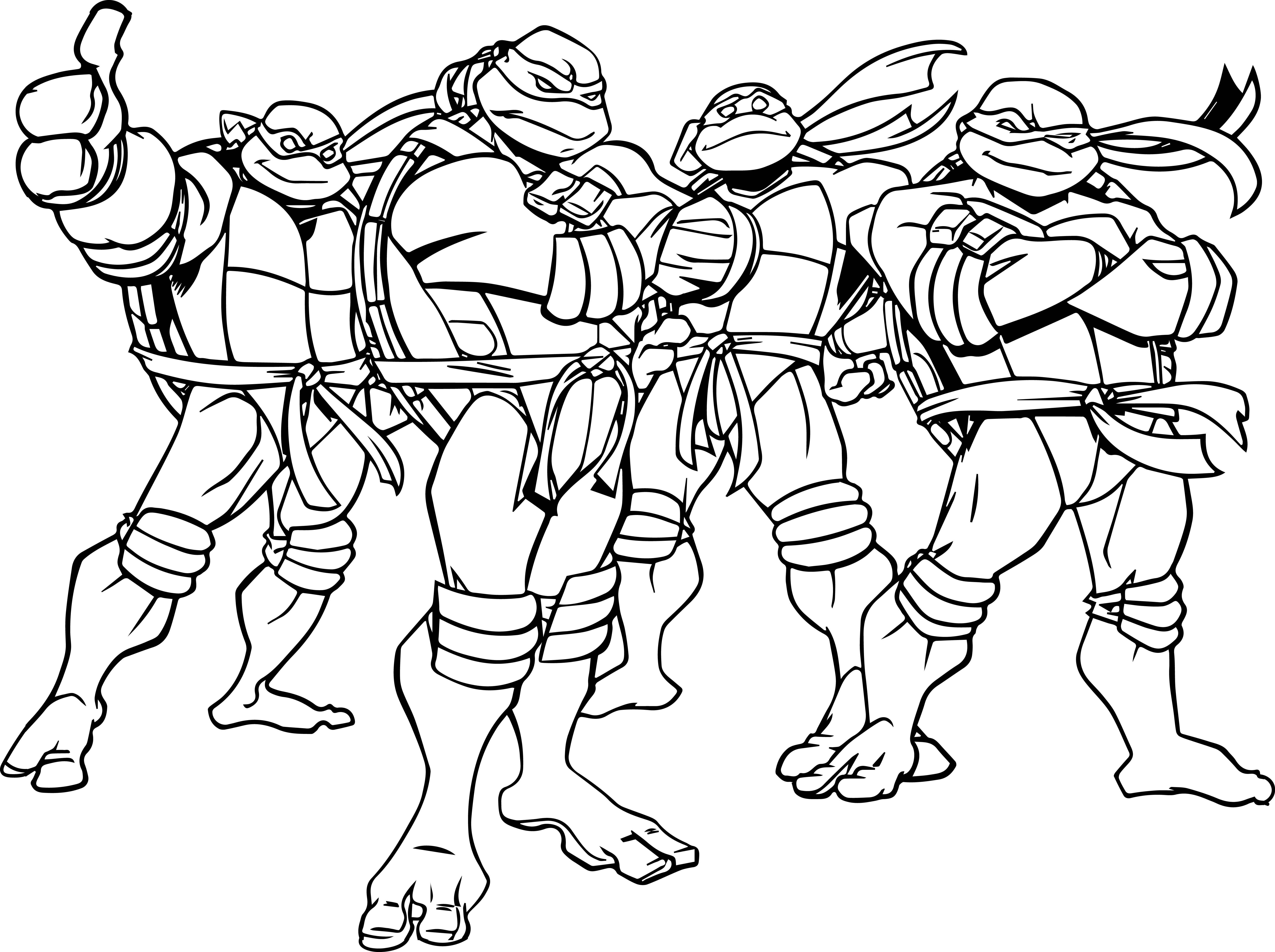Teenage Mutant Ninja Turtles Coloring Pages Printable At