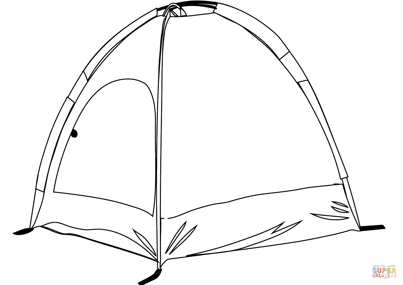 Tent Coloring Page At Getcolorings