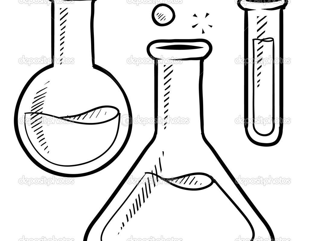 Test Tube Coloring Page At Getcolorings