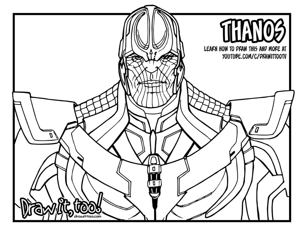 Thanos Coloring Pages At Getcolorings