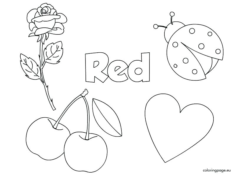 things that are red coloring pages at getcolorings