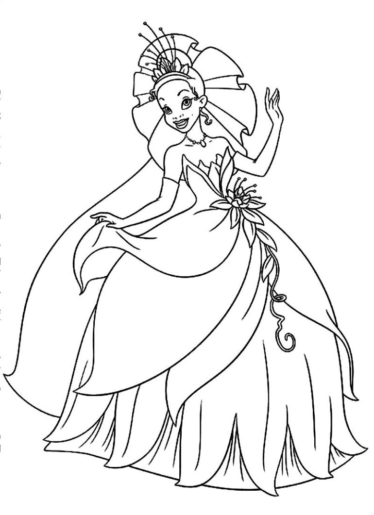 Tiana Coloring Pages at GetColorings.com | Free printable ... | free printable princess tiana coloring pages