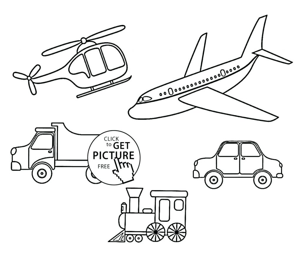 Transportation Coloring Pages For Preschoolers At