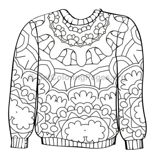 ugly christmas sweater coloring page at getcolorings