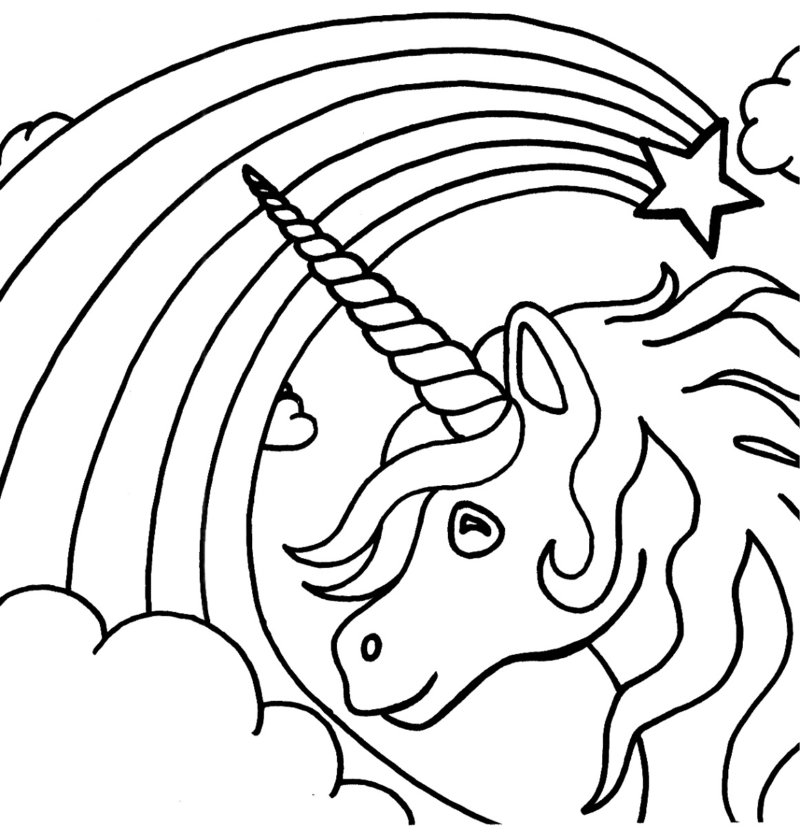 Unicorn Rainbow Coloring Pages At Getcolorings