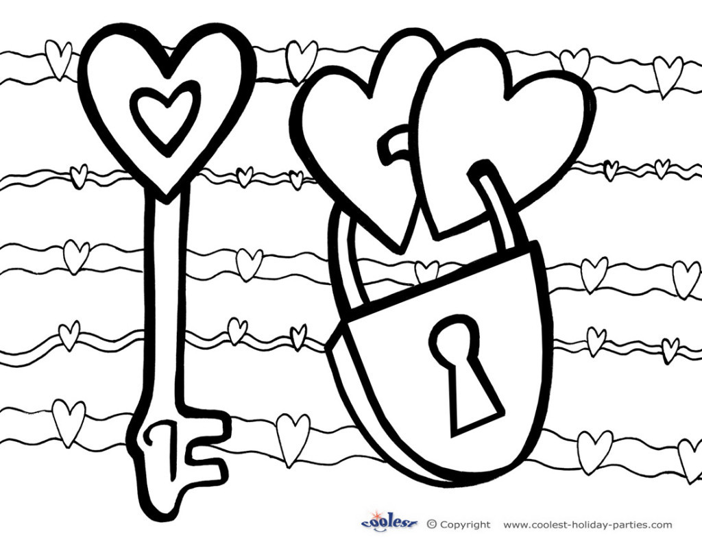 Valentine Coloring Pages For Boys At Getcolorings