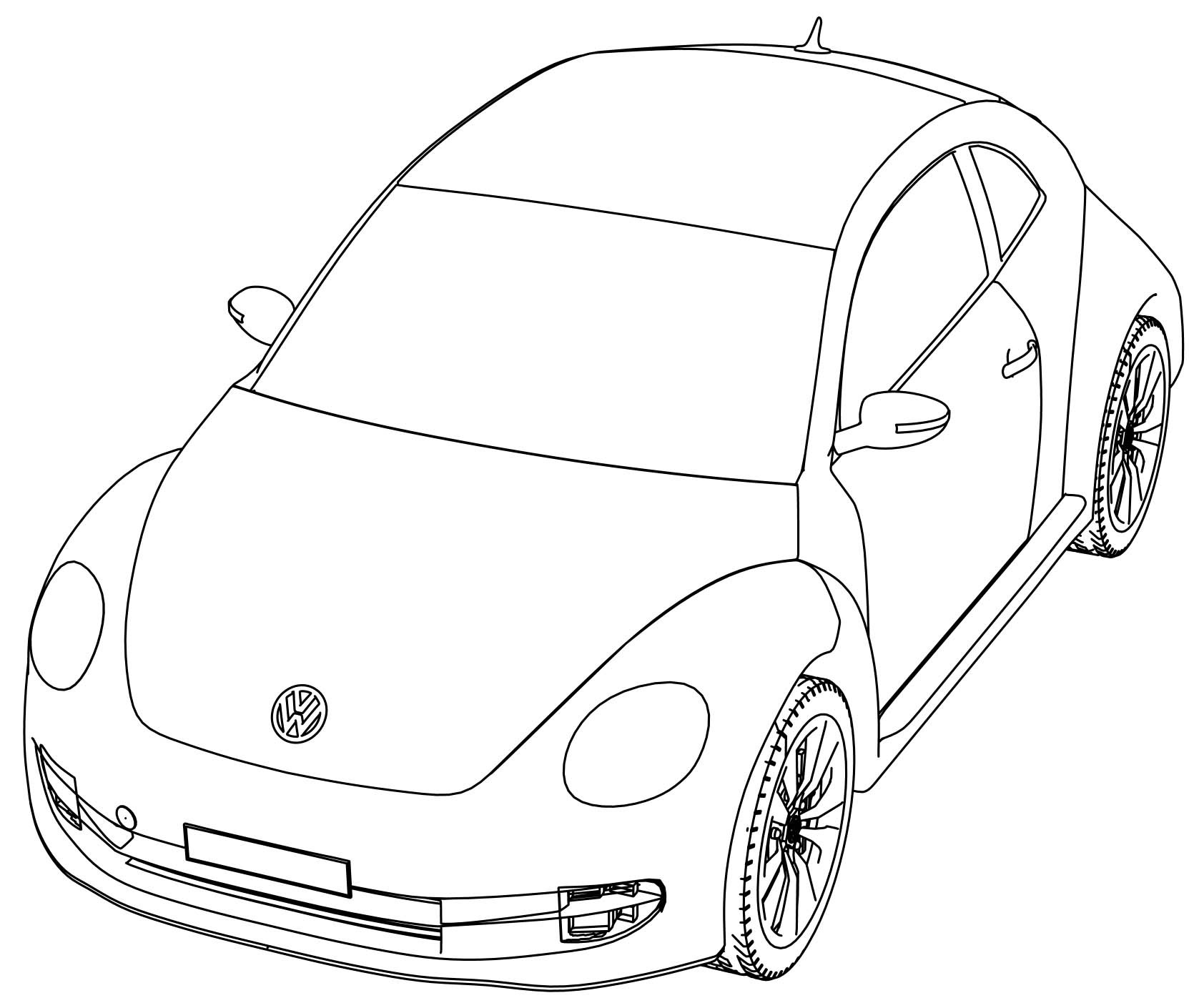 Vw Bug Coloring Pages At Getcolorings