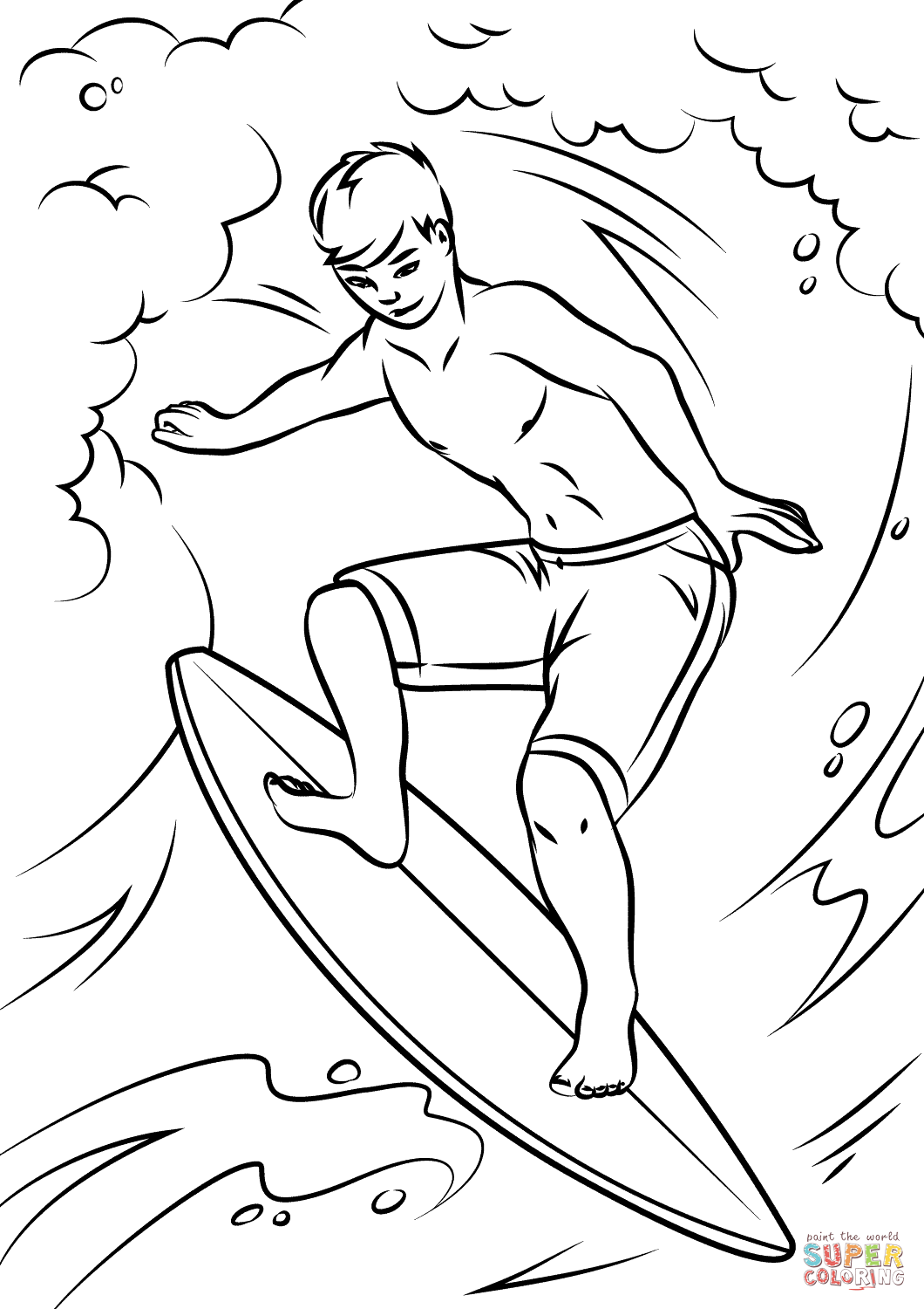Waves Coloring Page At Getcolorings