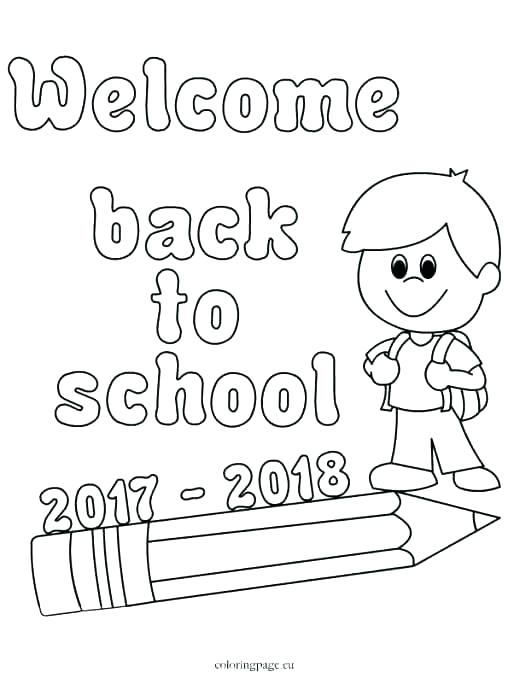 welcome to preschool coloring pages at getcolorings