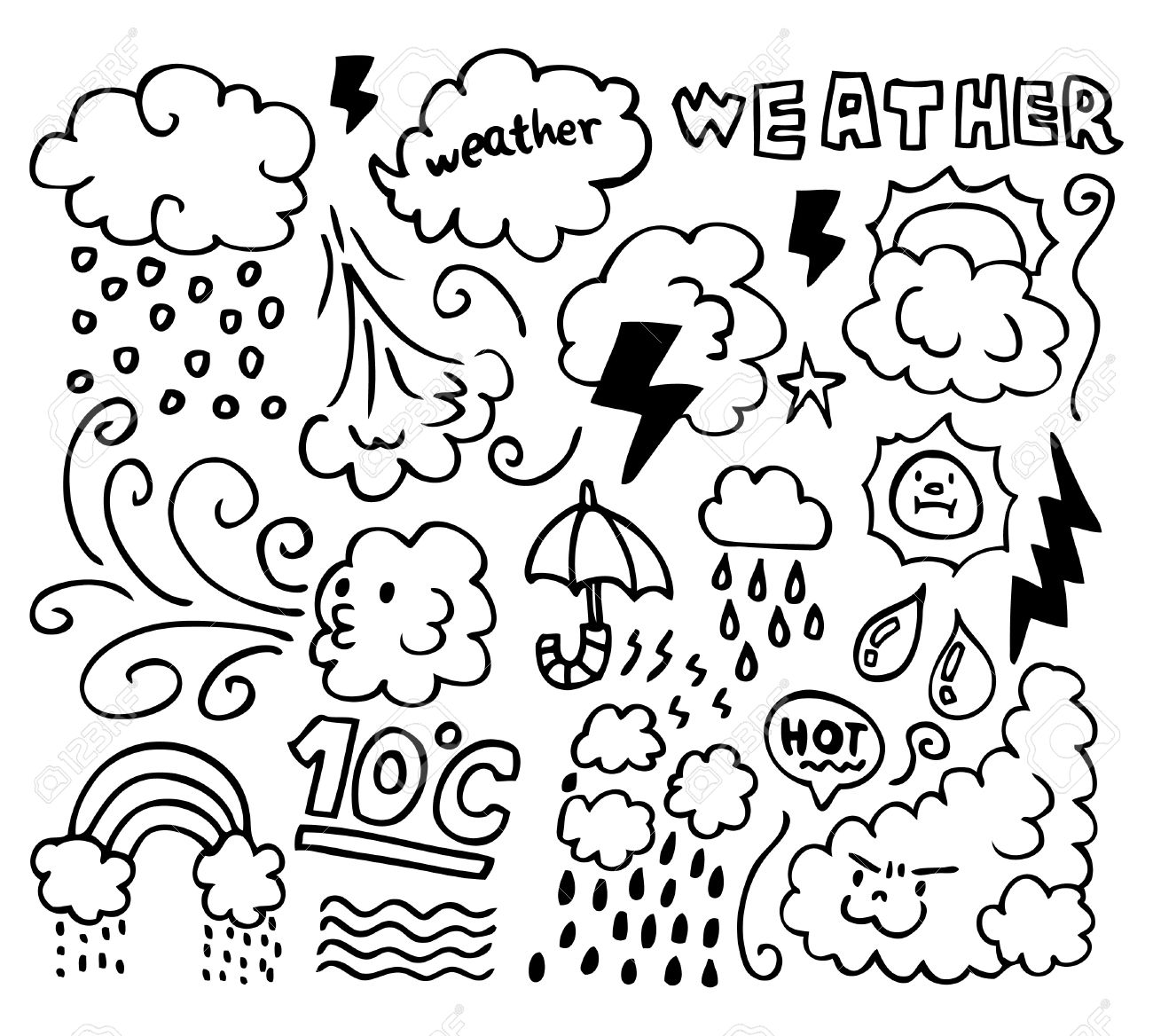Weather Coloring Pages Collection - Whitesbelfast | 1168x1300