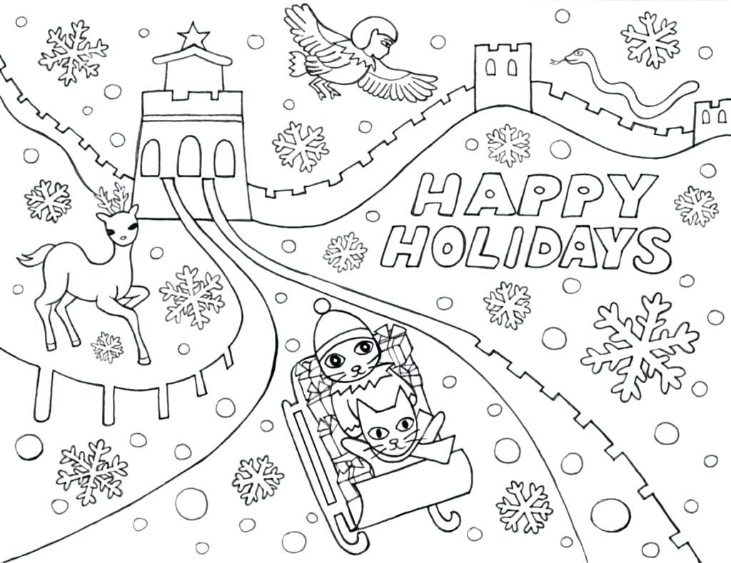 Winter Holiday Coloring Pages Printable At Getcolorings