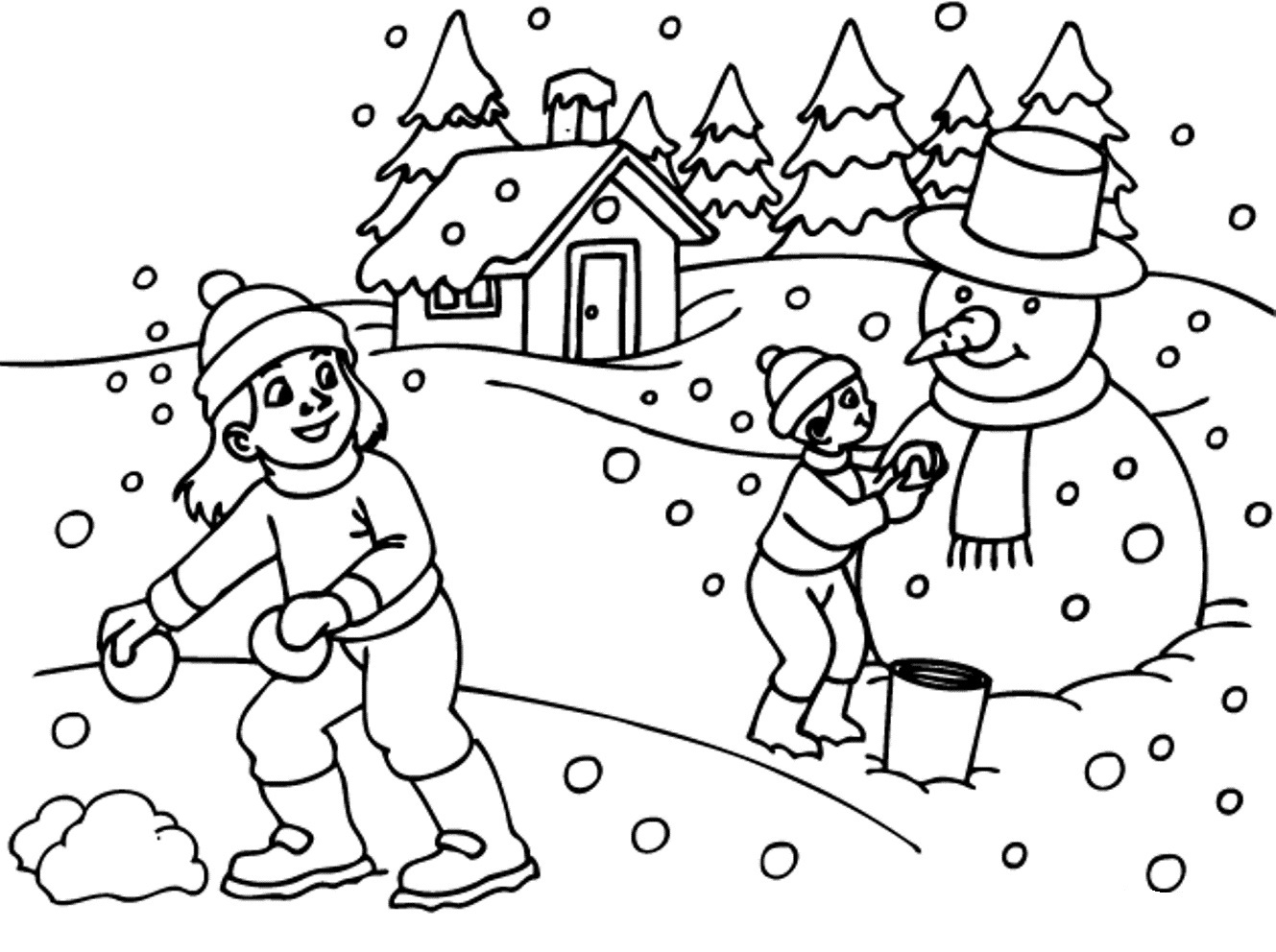 Winter Themed Coloring Pages At Getcolorings