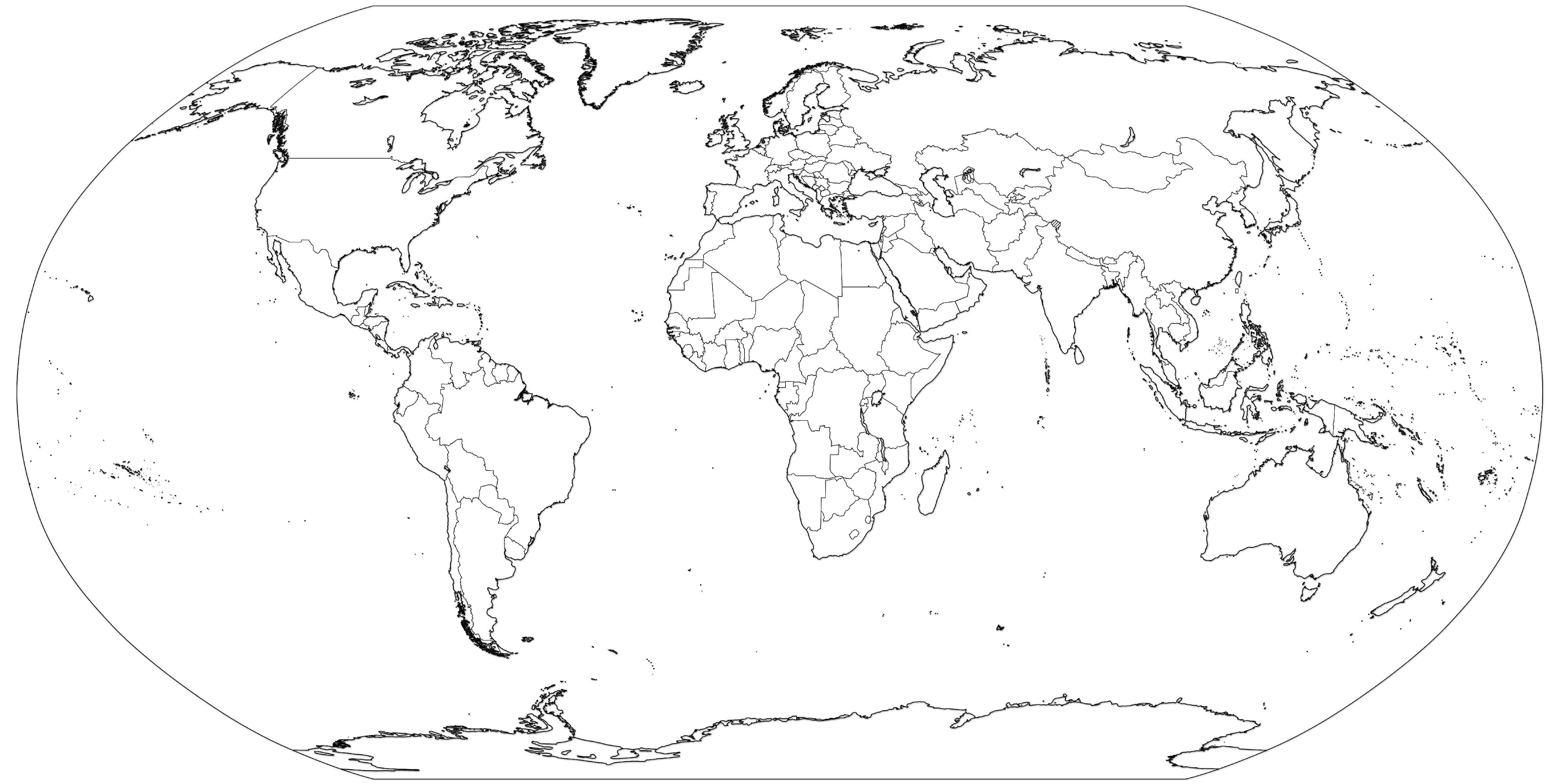 World Map Coloring Page At Getcolorings