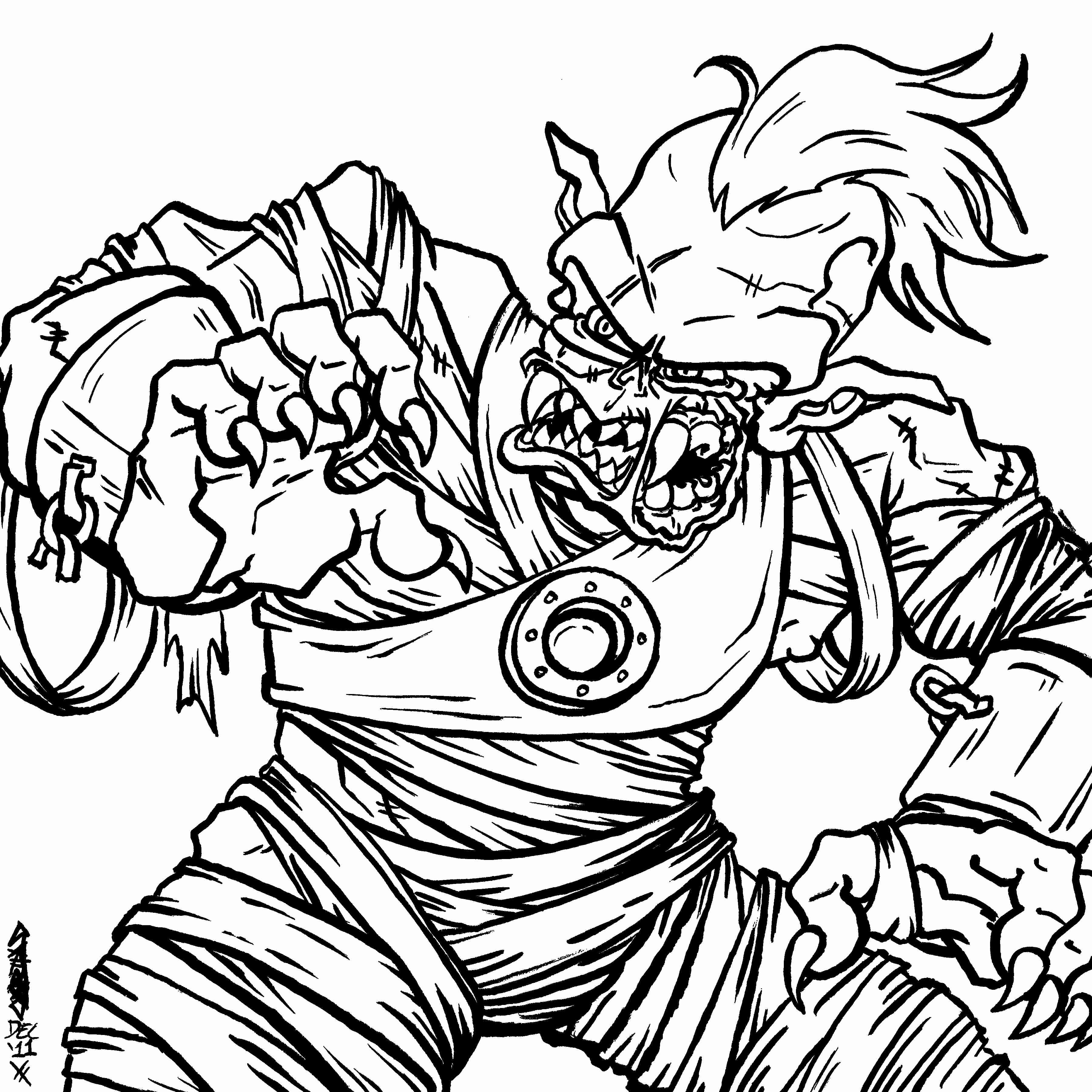 Zombie Coloring Pages For Kids At Getcolorings