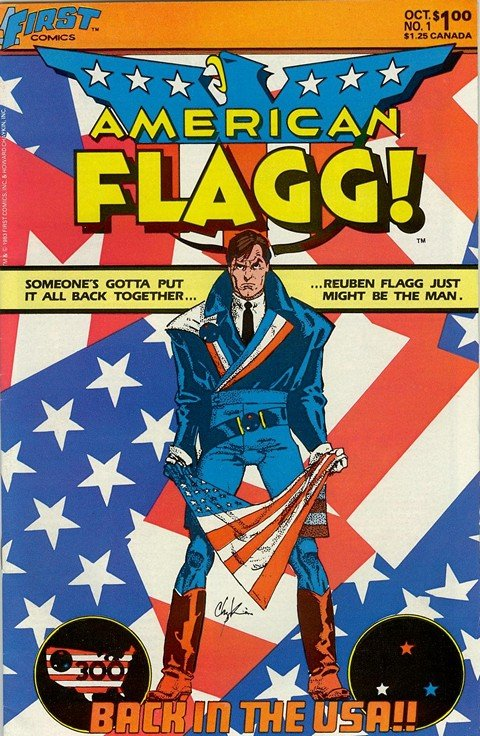 American Flagg Vol. 1 #1 – 50 + Vol. 2 #1 – 12