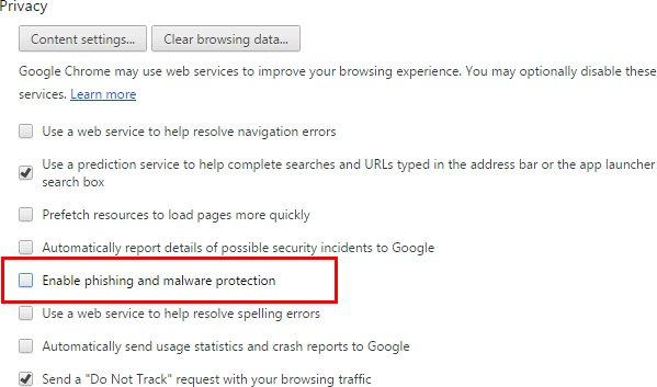 disable-Google-Chrome-phishing-and-malware-protection
