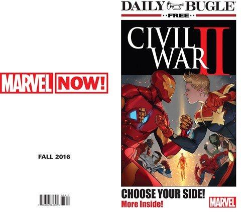 Civil War II Daily Bugle Newspaper