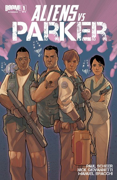 Aliens vs. Parker #1 – 4 + TPB Vol. 1 (2013)