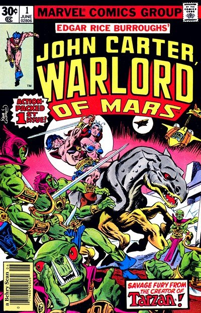 John Carter Warlord of Mars #1 – 28 + Annuals #1 – 3 (1977-1979)