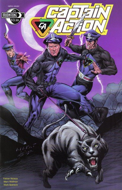 Captain Action #0 – 5 (2008-2009)