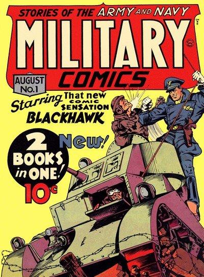 Military Comics + Modern Comics #1 – 102 (1941-1950)