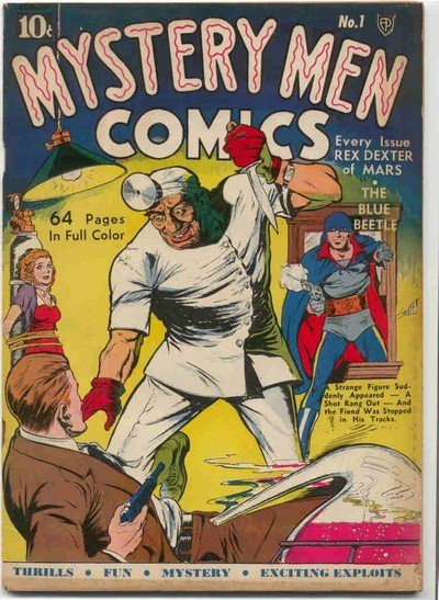 Mystery Men Comics #1 – 31 (1939-1942)