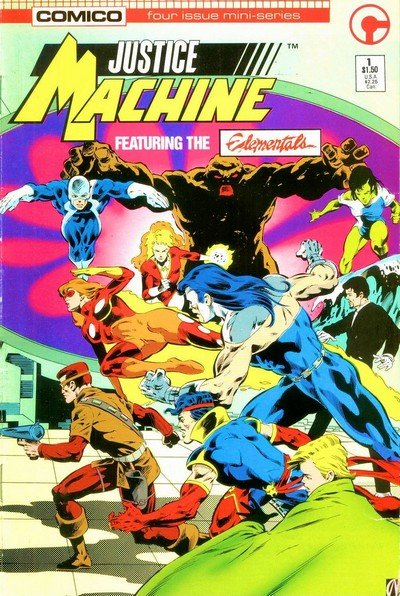 Justice Machine featuring The Elementals #1 – 4 (1986)