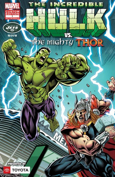 The Incredible Hulk vs. The Mighty Thor – New York Jets Exclusive #1 (2018)