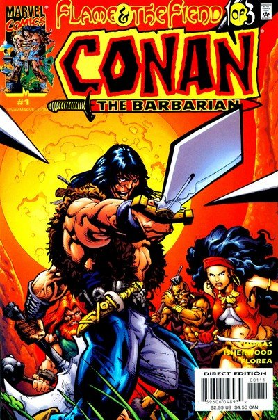 Conan – Flame and the Fiend #1 – 3 (2000)