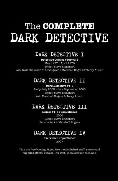 The Complete Dark Detective (digital)