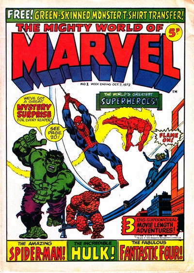 The Mighty World of Marvel #1 – 327 (1972-1979) (Incomplete)