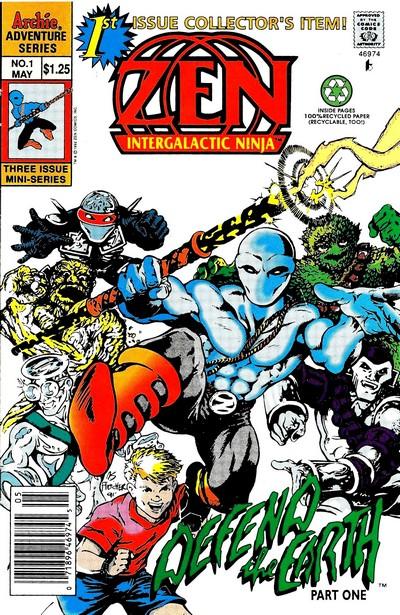 Zen Intergalactic Ninja Vol. 1 #1 – 3 (1992) (Archie)