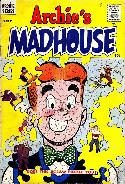 Archie's Madhouse #1 – 130 + Annuals #1 – 12 (1959-1982)