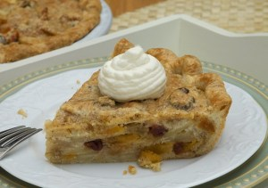 Apple Almond Pie with Dried Cherries and Apricots