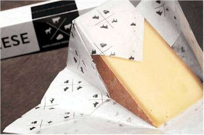 Wrap the cheese in the paper