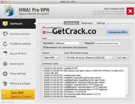 HMA Pro VPN 5.1.259 Crack With License Key Download 2021