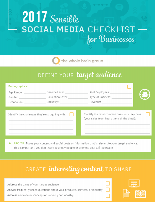 Whole Brain - Social Media Checklist