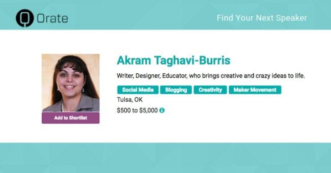 Akram Taghavi-Burris - Speaker